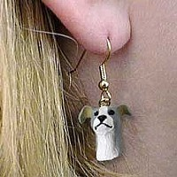 Greyhound Blue Earrings Hanging