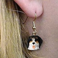 Bernese Mountain Dog Earrings Hanging