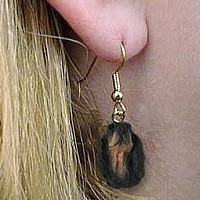 Gordon Setter Earrings Hanging