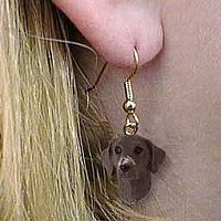 German Short Haired Pointer Earrings Hanging