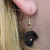 Portuguese Water Dog Earrings Hanging