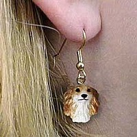 Borzoi Earrings Hanging