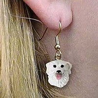 Kuvasz Earrings Hanging