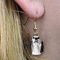 English Setter Belton Blue Earrings Hanging