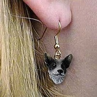 Australian Cattle BlueDog Earrings Hanging