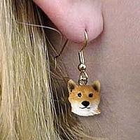 Shiba Inu Earrings Hanging
