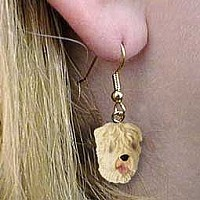Soft Coated Wheaten Earrings Hanging