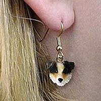 Australian Shepherd Brown w/Docked Tail Earrings Hanging