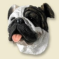 Bulldog Brindle Doogie Head