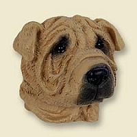 Shar Pei Brown Doogie Head