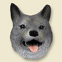 Norwegian Elkhound Doogie Head