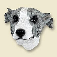 Whippet Gray & White Doogie Head