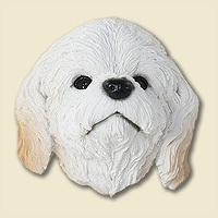 Cockapoo White Doogie Head