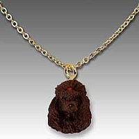 Poodle Chocolate Tiny One Pendant