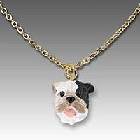 Bulldog Brindle Tiny One Pendant