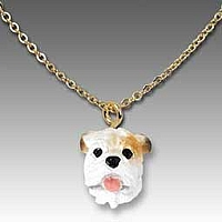 Bulldog White Tiny One Pendant