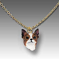 Chihuahua Brindle & White Tiny One Pendant