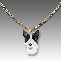 Bull Terrier Brindle Tiny One Pendant