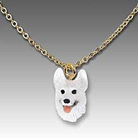 German Shepherd White Tiny One Pendant