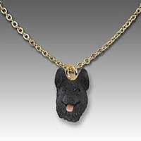German Shepherd Black Tiny One Pendant