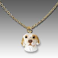 Clumber Spaniel Tiny One Pendant