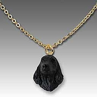 Cocker Spaniel English Black Tiny One Pendant