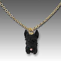 Schnauzer Black Tiny One Pendant