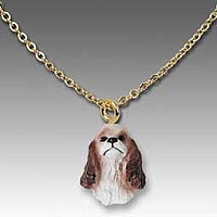 Cocker Spaniel Brown & White Tiny One Pendant