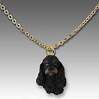 Cocker Spaniel Black & Tan Tiny One Pendant