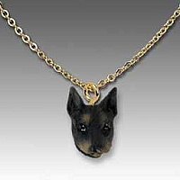 Doberman Pinscher Black w/Cropped Ears Tiny One Pendant