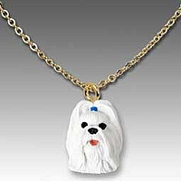 Shih Tzu White Tiny One Pendant