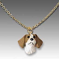 Brittany Brown & White Spaniel Tiny One Pendant