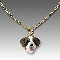 Saint Bernard w/Rough Coat Tiny One Pendant