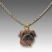 Shar Pei Brown Tiny One Pendant