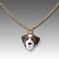 Saint Bernard w/Smooth Coat Tiny One Pendant