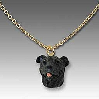 Staffordshire Bull Terrier Brindle Tiny One Pendant