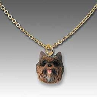 Cairn Terrier Brindle Tiny One Pendant