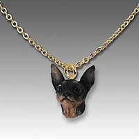 Miniature Pinscher Tan & Black Tiny One Pendant