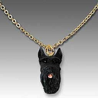 Schnauzer Giant Black Tiny One Pendant