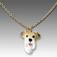 Wire Fox Terrier Red Tiny One Pendant