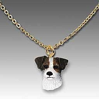 Jack Russell Terrier Brown & White w/Rough Coat Tiny One Pendant