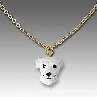 Whippet White Tiny One Pendant