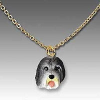 Bearded Collie Tiny One Pendant