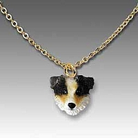 Australian Shepherd Brown w/Docked Tail Tiny One Pendant