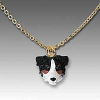 Australian Shepherd Tricolor w/Docked Tail Tiny One Pendant