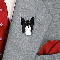 Chihuahua Black & White Pin