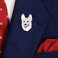 German Shepherd White Pin