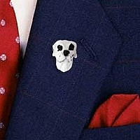 Great Dane Harlequin Uncropped Pin