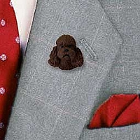Poodle Chocolate w/Sport Cut Pin