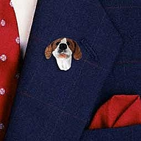 Pointer Brown & White Pin